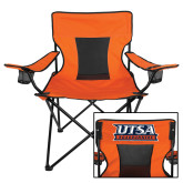Deluxe Orange Captains Chair-UTSA Roadrunners Stacked