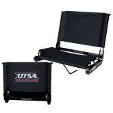Stadium Chair Black-UTSA Roadrunners Stacked
