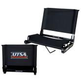 Stadium Chair Black-UTSA Roadrunners Stacked