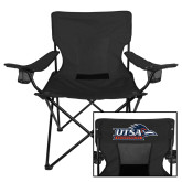 Deluxe Black Captains Chair-UTSA Roadrunners w/ Head Flat
