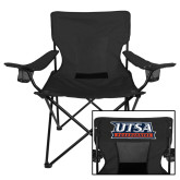 Deluxe Black Captains Chair-UTSA Roadrunners Stacked