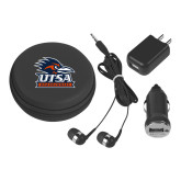 3 in 1 Black Audio Travel Kit-Primary Logo