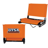 Stadium Chair Orange-UTSA Roadrunners Stacked