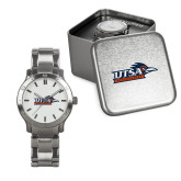 Mens Stainless Steel Fashion Watch-UTSA Roadrunners w/ Head Flat
