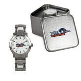Ladies Stainless Steel Fashion Watch-UTSA Roadrunners w/ Head Flat