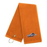 Orange Golf Towel-UTSA Roadrunners w/ Head Flat