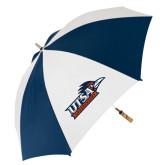 62 Inch Navy/White Umbrella-UTSA Roadrunners w/ Head Flat