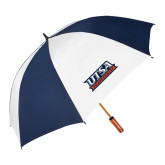 62 Inch Navy/White Vented Umbrella-UTSA Roadrunners Stacked