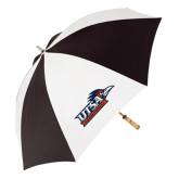 62 Inch Black/White Umbrella-UTSA Roadrunners w/ Head Flat