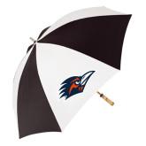 62 Inch Black/White Umbrella-Roadrunner Head