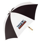 62 Inch Black/White Umbrella-UTSA Roadrunners Stacked