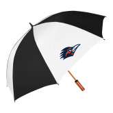 62 Inch Black/White Vented Umbrella-Roadrunner Head