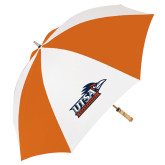 62 Inch Orange/White Umbrella-UTSA Roadrunners w/ Head Flat