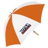 62 Inch Orange/White Umbrella-UTSA Roadrunners Stacked