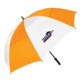 62 Inch Orange/White Vented Umbrella-UTSA Roadrunners w/ Head Flat