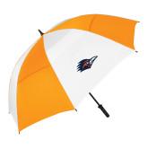 62 Inch Orange/White Vented Umbrella-Roadrunner Head