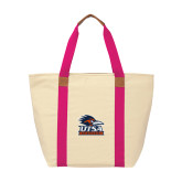 Natural/Tropical Pink Saratoga Tote-Primary Logo