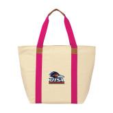 Natural/Tropical Pink Saratoga Tote-Primary Logo