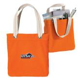 Allie Orange Canvas Tote-UTSA Roadrunners w/ Head Flat