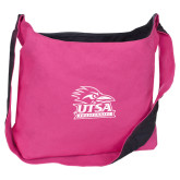 Cotton Canvas Tropical Pink/Charcoal Sling Bag-Primary Logo