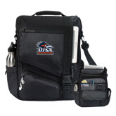 Momentum Black Computer Messenger Bag-Primary Logo
