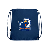 Nylon Navy Drawstring Backpack-UT Tyler w/ Eagle Head