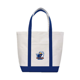 Contender White/Navy Canvas Tote-UT Tyler w/ Eagle Head