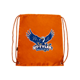 Nylon Orange Drawstring Backpack-Official Logo