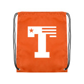 Orange Drawstring Backpack-Flag T