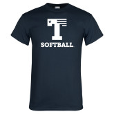 Navy T Shirt-Flag T - Softball