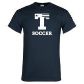Navy T Shirt-Flag T - Soccer