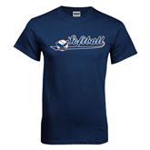 Navy T Shirt-Softball Lady Design