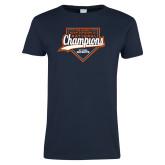 Ladies Navy T Shirt-Championship Gear