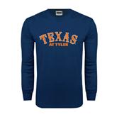 Navy Long Sleeve T Shirt-Texas at Tyler