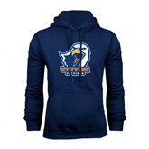 Navy Fleece Hoodie-UT Tyler w/ Eagle Head