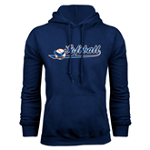 Navy Fleece Hood-Softball Lady Design