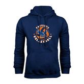 Navy Fleece Hood-Volleyball Design