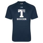 Under Armour Navy Tech Tee-Flag T - Soccer