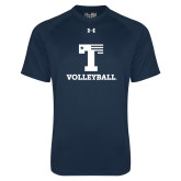 Under Armour Navy Tech Tee-Flag T - Volleyball