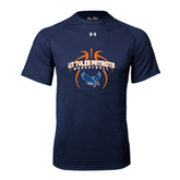 Under Armour Navy Tech Tee-Basketball in Ball