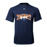 Under Armour Navy Tech Tee-Baseball Crossed Bats