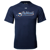 Under Armour Navy Tech Tee-Softball Lady Design