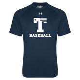 Under Armour Navy Tech Tee-Flag T - Baseball