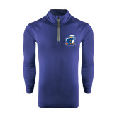 Under Armour Navy Tech 1/4 Zip Performance Shirt-UT Tyler w/ Eagle Head
