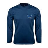 Syntrel Performance Navy Longsleeve Shirt-Official Logo
