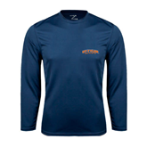 Syntrel Performance Navy Longsleeve Shirt-UT Tyler Arched