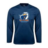 Syntrel Performance Navy Longsleeve Shirt-UT Tyler w/ Eagle Head