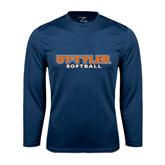 Syntrel Performance Navy Longsleeve Shirt-Softball