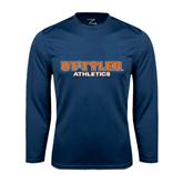 Syntrel Performance Navy Longsleeve Shirt-Athletics