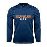 Syntrel Performance Navy Longsleeve Shirt-Dad